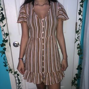 Cute Summer Colorful Striped Dress